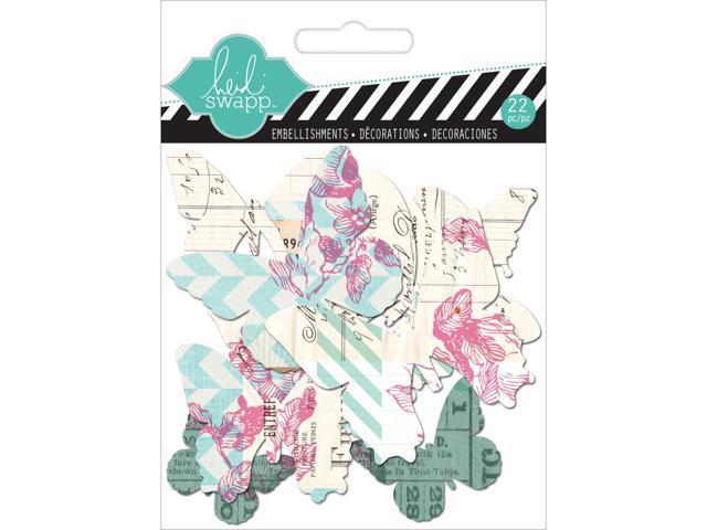 Hello Today Clear Pop Acrylic Embellishments-Butterflies 22/Pkg