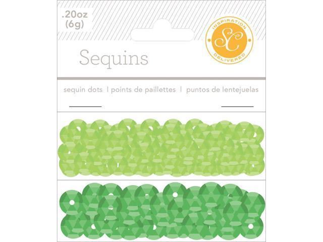 Essentials Sequins 8Mm 6G (.2Oz)-Greens
