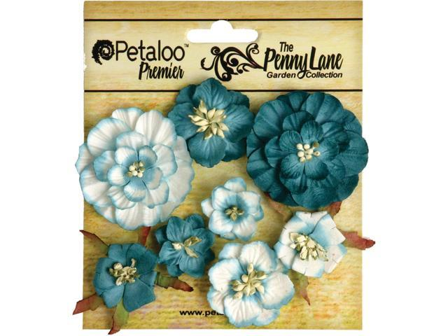 Penny Lane Mixed Blossoms 8/Pkg-Teal