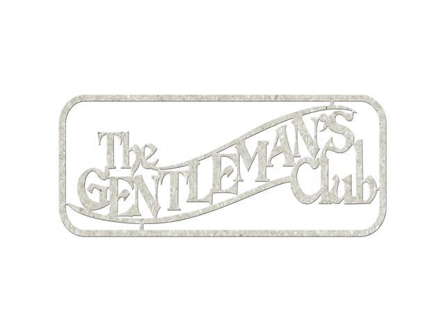 Die-Cut Gray Chipboard Word-Gentleman's Club, 2.5