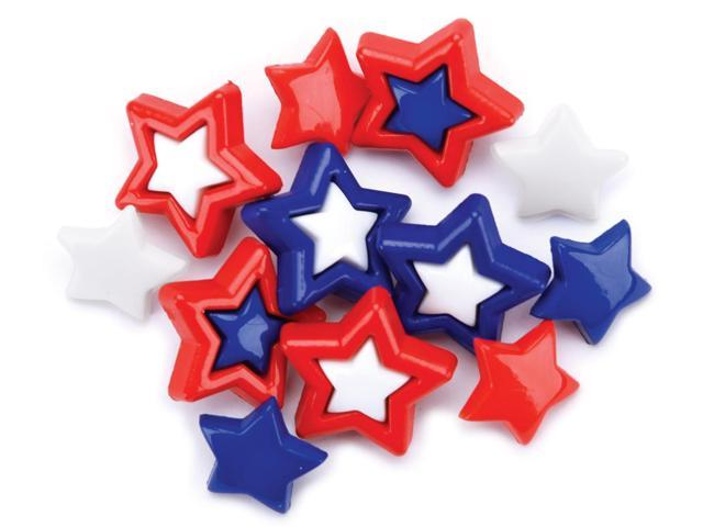 Favorite Findings Holiday Buttons-Patriotic Stars 11/Pkg