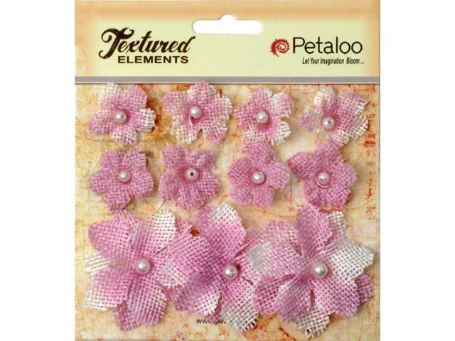 Textured Elements Burlap Mini Flowers .75