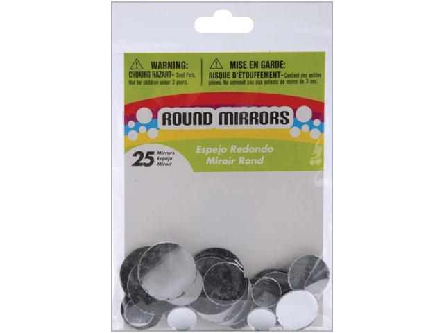 Round Glass Mirrors 25/Pkg-.5
