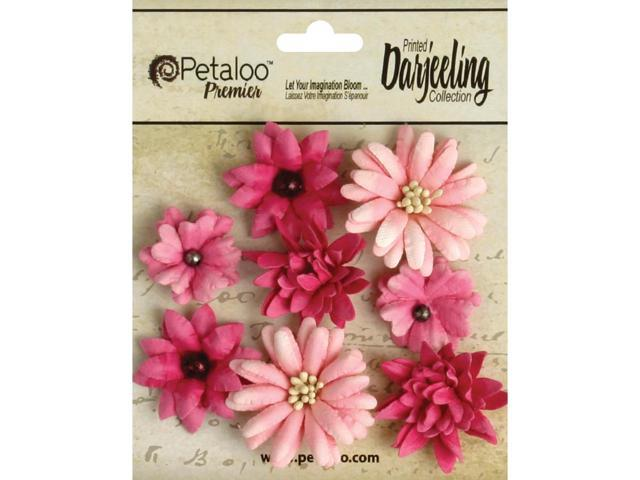Darjeeling Teastained Mini Mix Flowers .75