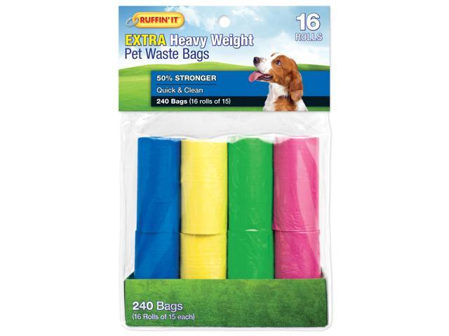 Color Waste Bag Refills 16/Pkg-4 Colors