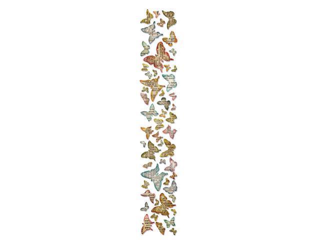 Sizzix Sizzlits Decorative Strip Die By Tim Holtz-Butterfly Frenzy