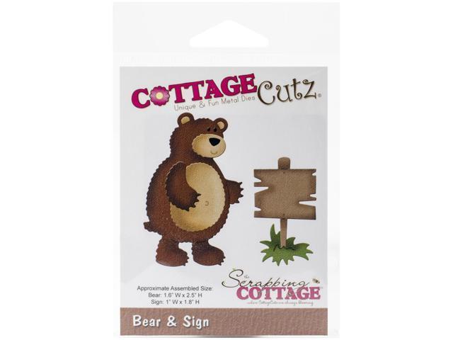 Cottagecutz Die-In The Woods Bear & Sign
