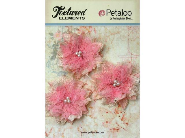 Textured Elements Burlap Bird's Nest Flowers 2.75