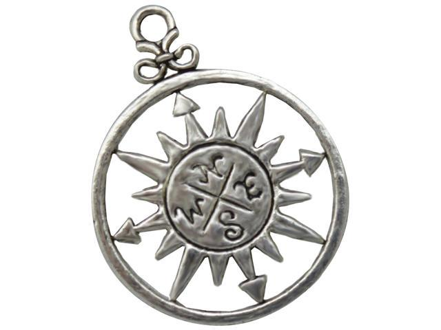 Silver Embellishments 12/Pkg -Compass #1