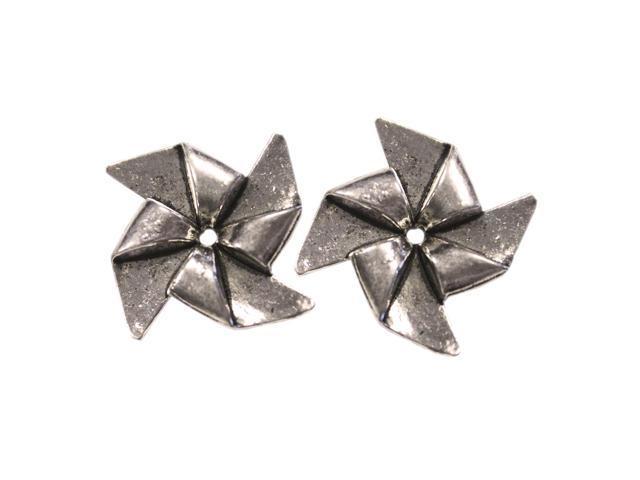 Silver Embellishments 10/Pkg-Pinwheels