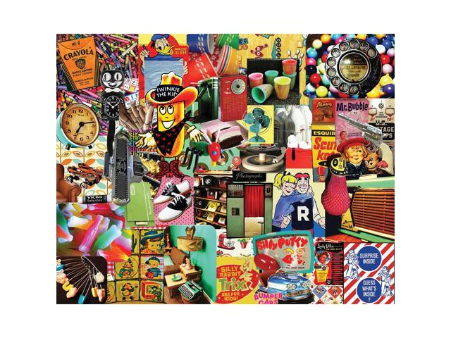 Retro Retro Retro 1000 Piece Puzzle by White Mountain Puzzles