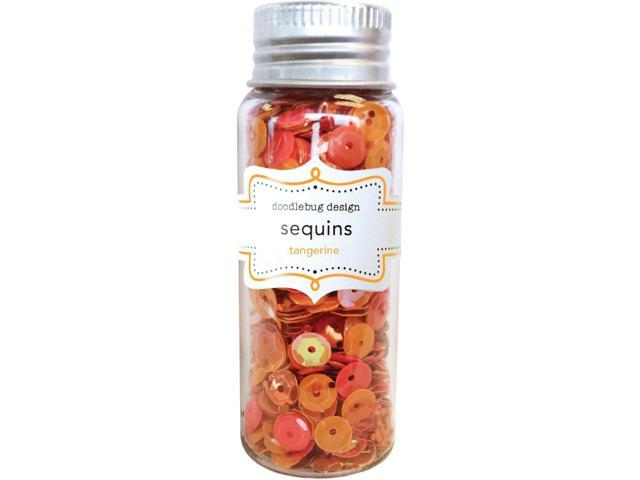 Kraft In Color Sequins Assorted-Tangerine