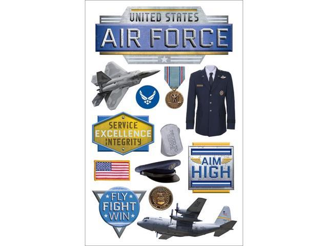 Paper House 3D Stickers-Air Force
