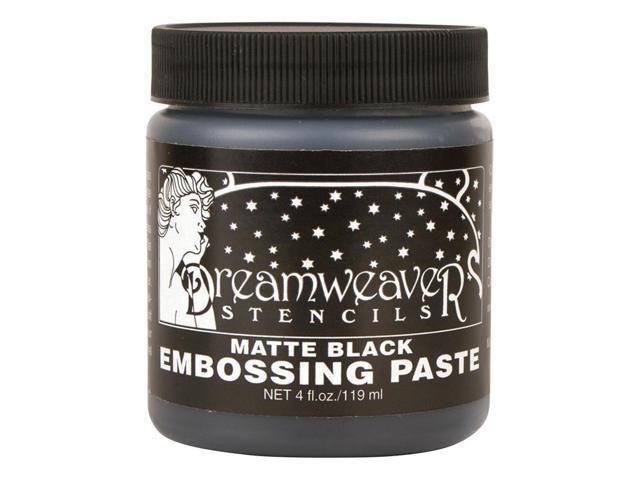 Dreamweaver Embossing Paste 4Oz-Matte Black