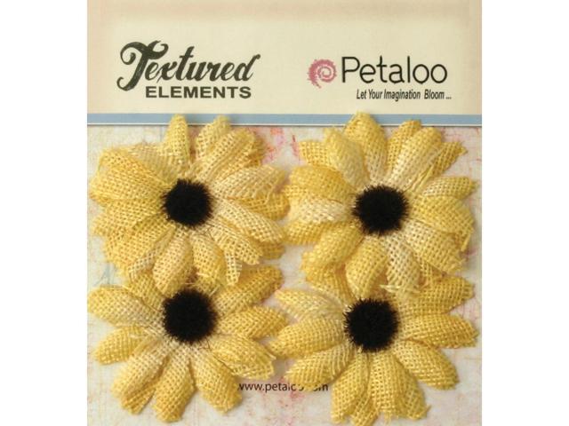 Textured Elements Burlap Sunflowers 2