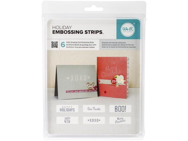 We R Phrase Strips Embossing Folders 6