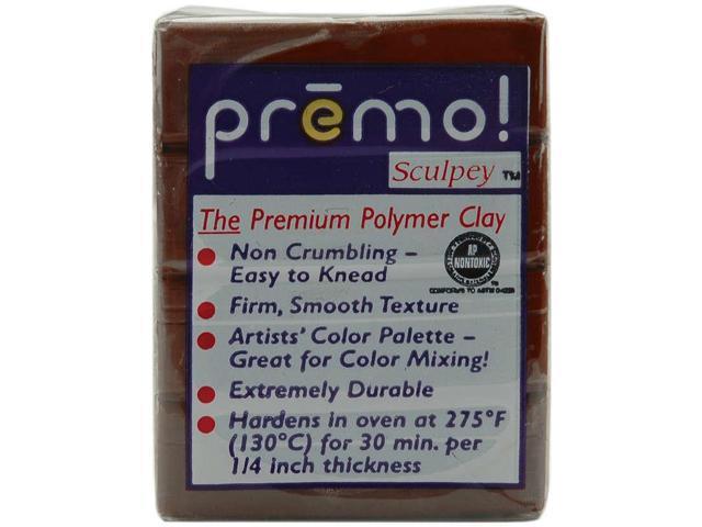 Premo Sculpey Polymer Clay 2oz-Burnt Umber
