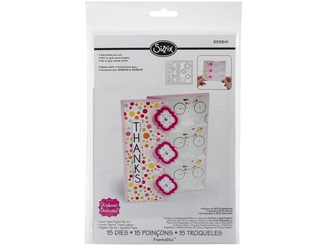Sizzix Framelits Dies By Stephanie Barnard 15/Pkg-Triple Playful Flip-Its Card