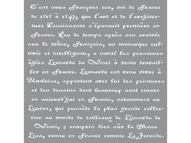 Americana Decor Stencil-Old French Script