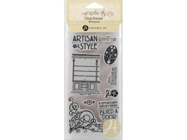 Graphic 45 Artisan Style Cling Stamps-#1