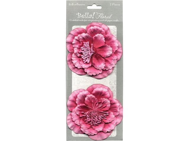 Bella! Paper Florals 2/Pkg-Pink