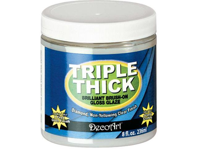 Triple Thick Brilliant Brush-On Gloss Glaze-8 Ounce Jar