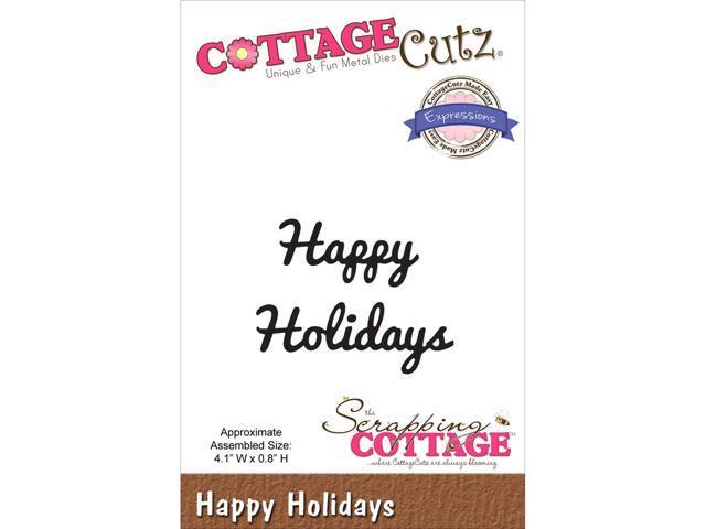 Cottagecutz Expressions Die-Happy Holidays
