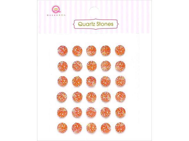 Quartz Stones Self-Adhesive Embellishments 30/Pkg-Orange