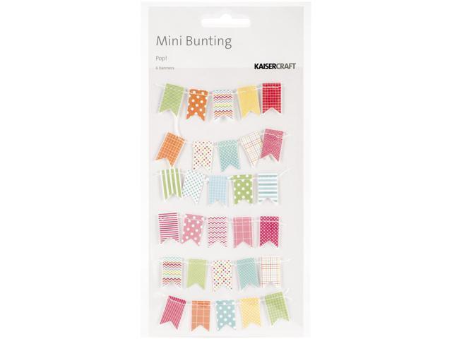 Pop! Mini Bunting Banners 6/Pkg-