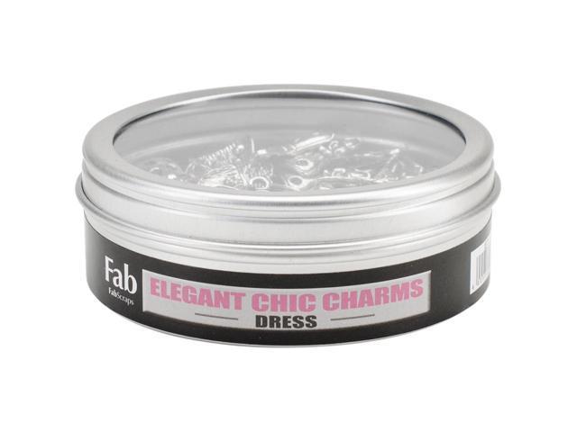 Silver Embellishments 5/Pkg-Large Filigree Dress