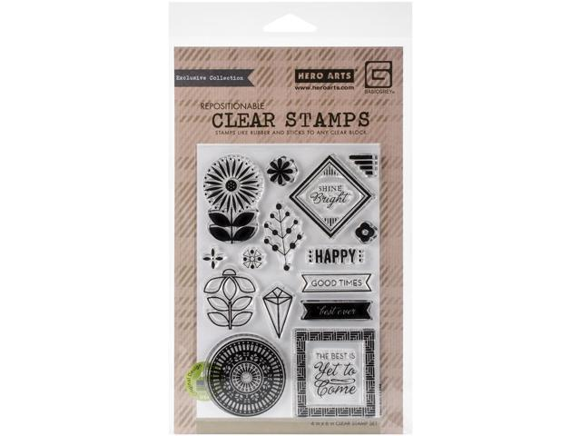 Basic Grey Prism Clear Stamps By Hero Arts-Shine Bright