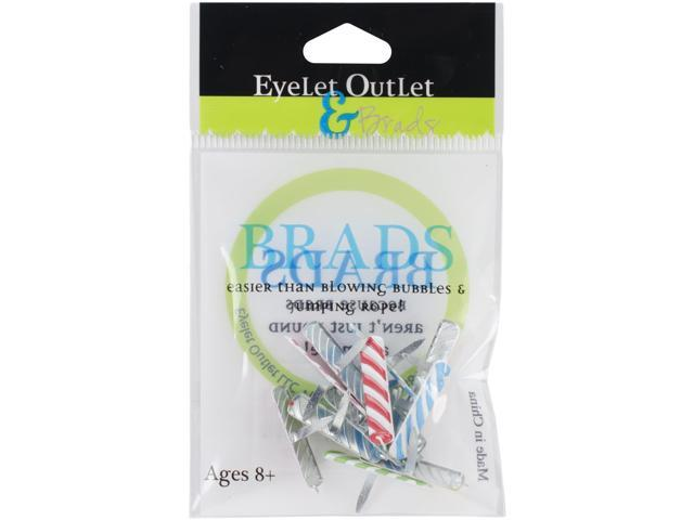 Eyelet Outlet Shape Brads 12/Pkg-Candle