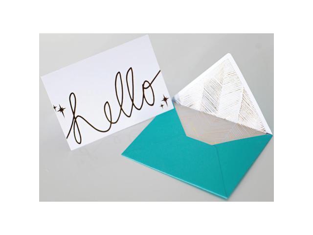 Studio Gold Foiled Cards W/Envelopes 5.25