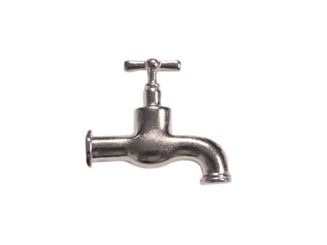 Silver Embellishments 15/Pkg-Water Tap