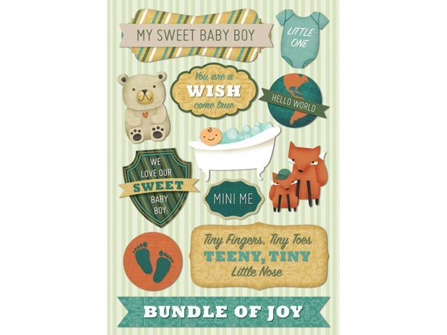 Baby Boy Cardstock Stickers 5.5