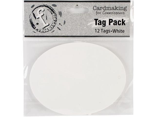Fundamentals Tags 12/Pkg-Large Oval/White