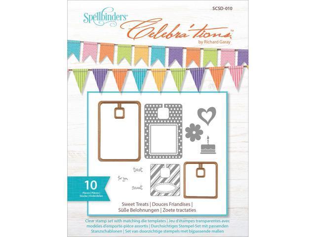 Celebra'tions Dies W/Stamps 10/Pkg-Sweet Treats