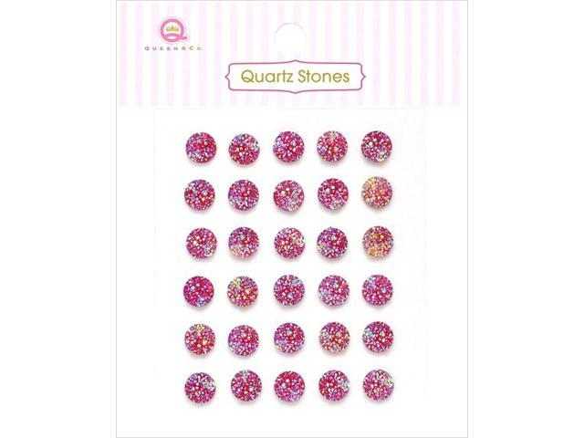 Quartz Stones Self-Adhesive Embellishments 30/Pkg-Red