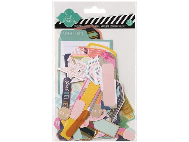 Heidi Swapp Mixed Media Ephemera Die-Cuts 73/Pkg-Cardstock & Vellum Shapes