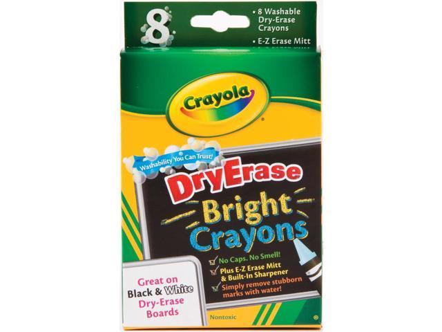 Crayola Washable Dry-Erase Crayons-Bright 8/Pkg