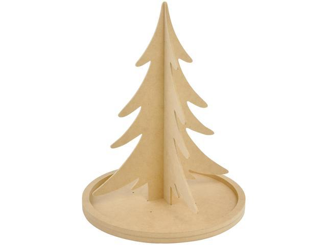 Beyond The Page Mdf Rotating Christmas Tree-14.75