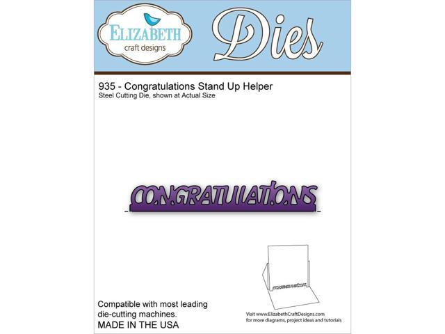 Elizabeth Craft Metal Die-Congratulations Stand Up Helper