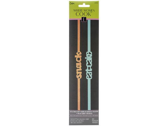 Sizzix Sizzlits Decorative Strip Die By Where Women Cook-Eat & Snack