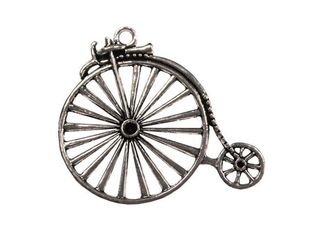 Silver Embellishments 10/Pkg-Penny Farthing