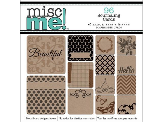Misc Me Pocket Squares Journaling Cards 96/Pkg-Kraft