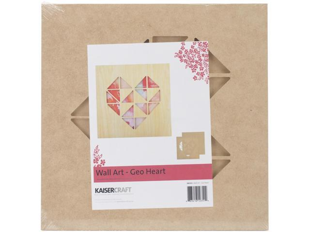 Beyond The Page Mdf Geo Heart Wall Art-11