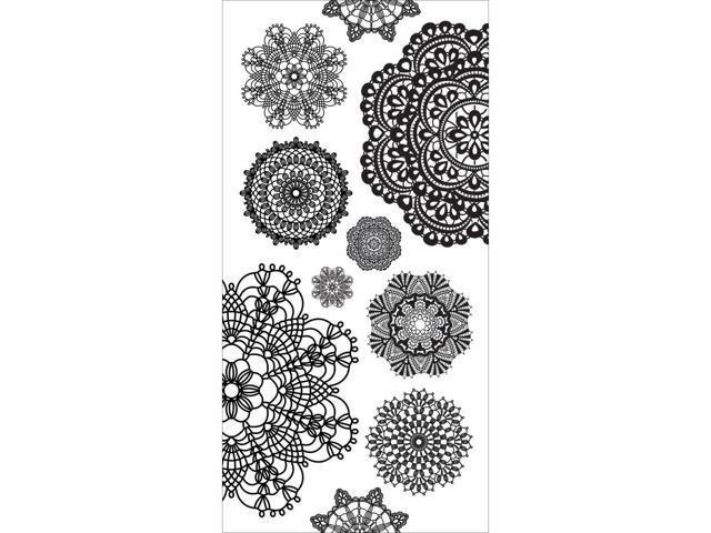 Clear Stickers-Doilies