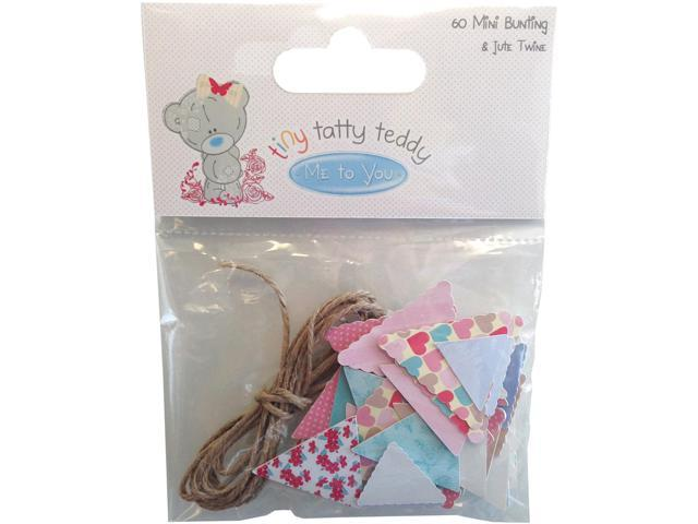 Tiny Tatty Teddy Bunting Pennants & Twine 60/Pkg-Girl