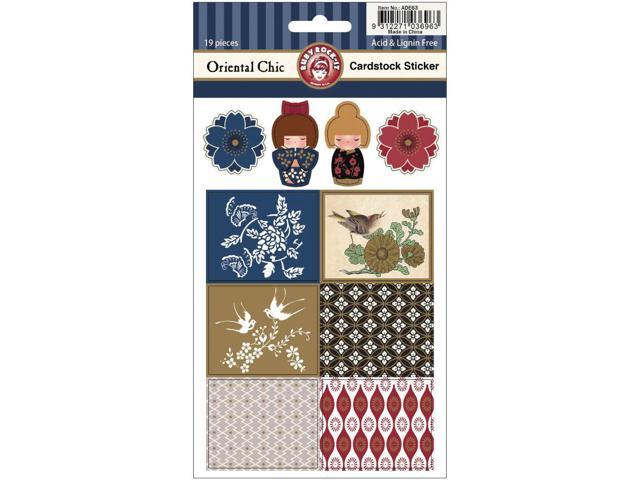 Oriental Chic Cardstock Scrapbooking Stickers 2 Sheets/Pkg-