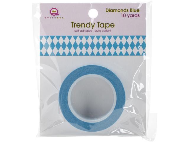 Queen & Co. Trendy Tape-Diamonds Blue